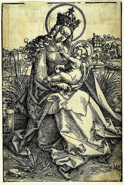 Madonna and Child by Hans Baldung  Grien - Reproduction Oil Painting