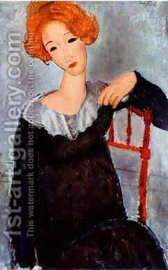 Women with Red Hair by Amedeo Modigliani - Reproduction Oil Painting