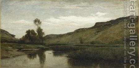 The big valley of the Optevoz by Charles-Francois Daubigny - Reproduction Oil Painting
