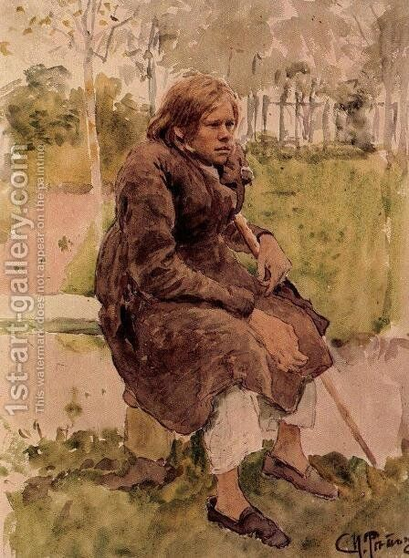 Hunchback (study) by Ilya Efimovich Efimovich Repin - Reproduction Oil Painting