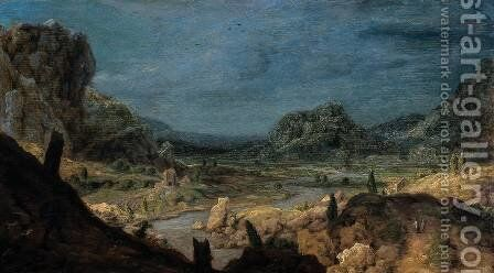 River valley by Hercules Seghers - Reproduction Oil Painting