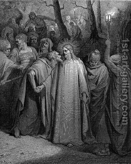 The Judas Kiss by Gustave Dore - Reproduction Oil Painting