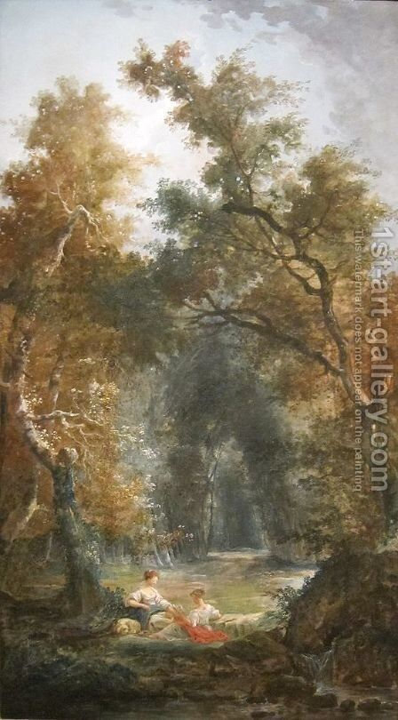 The Glade by Hubert Robert - Reproduction Oil Painting