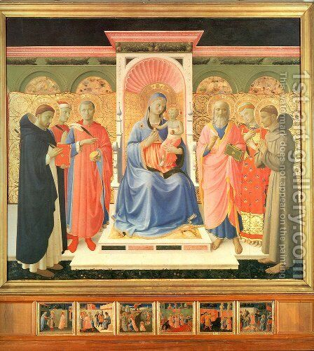 Annalena Altarpiece by Angelico Fra - Reproduction Oil Painting