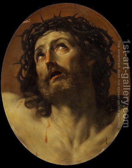 Head of Christ Crowned with Thorns by Guido Reni - Reproduction Oil Painting
