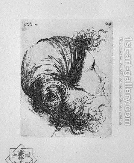 Head of a Woman by Giovanni Battista Piranesi - Reproduction Oil Painting