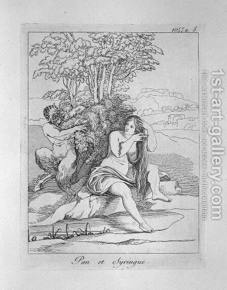 Pan and Syrinx by Giovanni Battista Piranesi - Reproduction Oil Painting