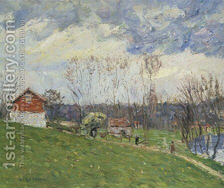Landscape with House by Gustave Loiseau - Reproduction Oil Painting