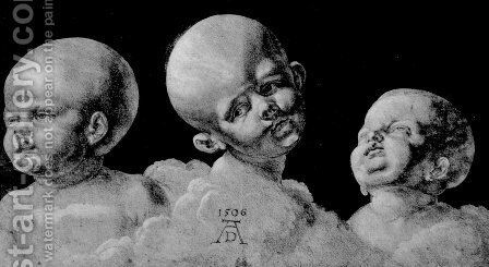 Three children's heads by Albrecht Durer - Reproduction Oil Painting