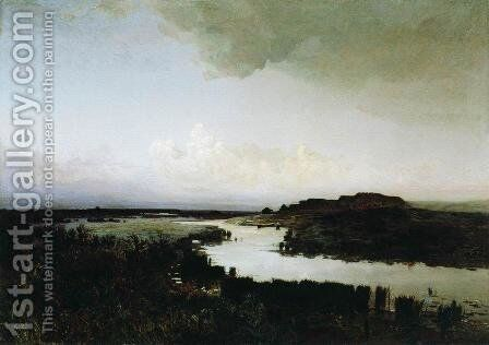 Steppe in the evening by Arkhip Ivanovich Kuindzhi - Reproduction Oil Painting