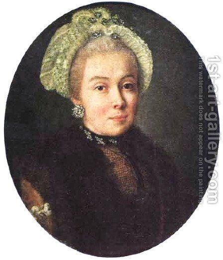 Portrait of an Unknown Lady by Aleksei Antropov - Reproduction Oil Painting
