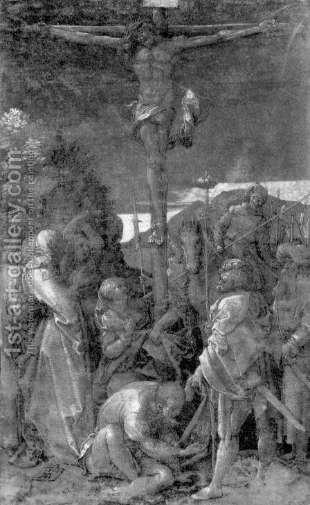 Christ on the Cross 3 by Albrecht Durer - Reproduction Oil Painting