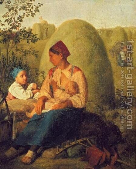 Haymaking by Aleksei Gavrilovich Venetsianov - Reproduction Oil Painting