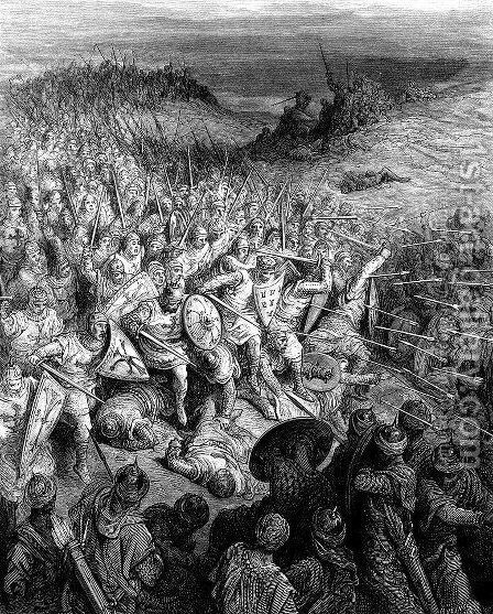 The Battle of Dorylaeum by Gustave Dore - Reproduction Oil Painting