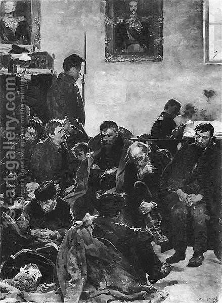 At the stage (Siberians) by Jacek Malczewski - Reproduction Oil Painting