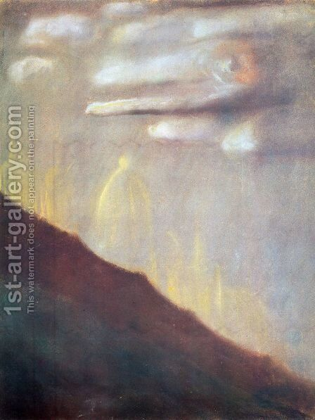 Deluge (VIII) by Mikolajus Ciurlionis - Reproduction Oil Painting