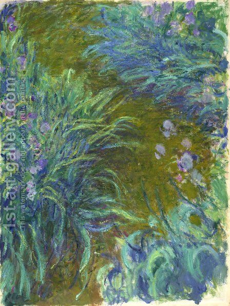 Path through the Irises 02 by Claude Oscar Monet - Reproduction Oil Painting