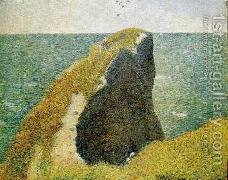 The Bec du Hoc, Grandcamp by Georges Seurat - Reproduction Oil Painting