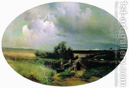 View of Moscow from Mazilova by Alexei Kondratyevich Savrasov - Reproduction Oil Painting