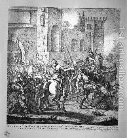 Jesus carried to Calvary 3 by Giovanni Battista Piranesi - Reproduction Oil Painting