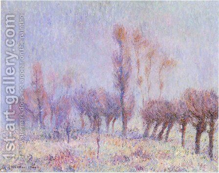 Willows in Fog by Gustave Loiseau - Reproduction Oil Painting