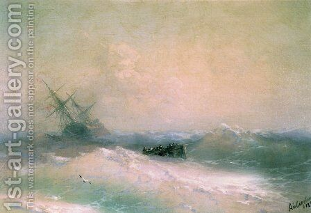 Storm at Sea 3 by Ivan Konstantinovich Aivazovsky - Reproduction Oil Painting