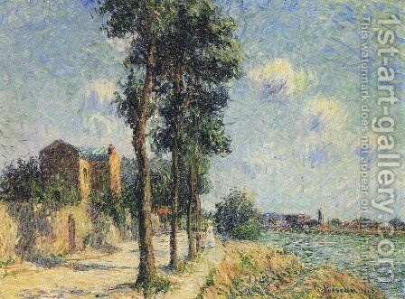 Quay at Dieppe 2 by Gustave Loiseau - Reproduction Oil Painting