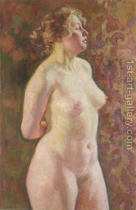 Standing Nude by Theo van Rysselberghe - Reproduction Oil Painting