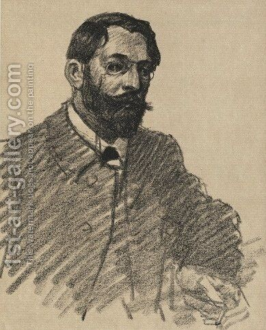 Henri Riviere by Theophile Alexandre Steinlen - Reproduction Oil Painting