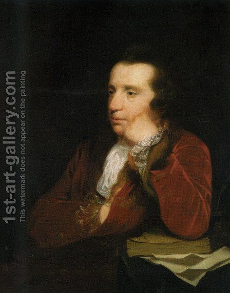 Portrait of George Colman, the Elder by Sir Joshua Reynolds - Reproduction Oil Painting