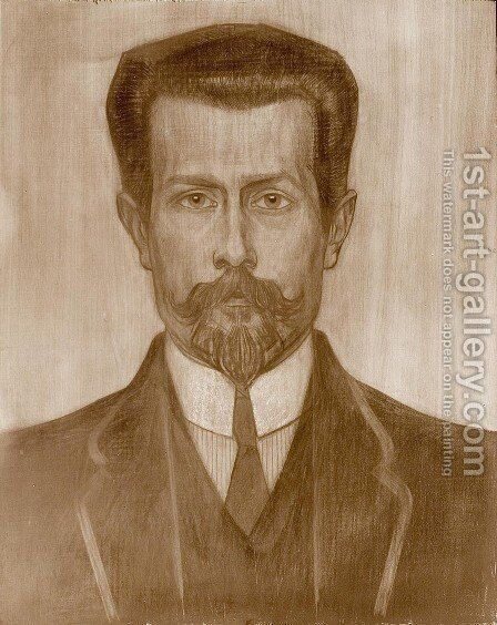 Portrait of Theo Neuhuys by Jan Toorop - Reproduction Oil Painting