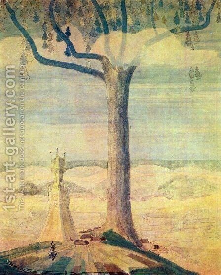 Andante (Sonata of the Summer) by Mikolajus Ciurlionis - Reproduction Oil Painting