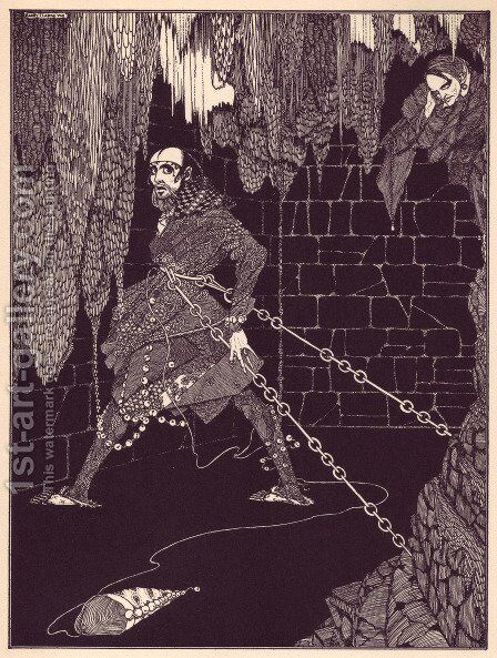 Tales of Mystery and Imagination by Edgar Allan Poe 12 by Harry Clarke - Reproduction Oil Painting
