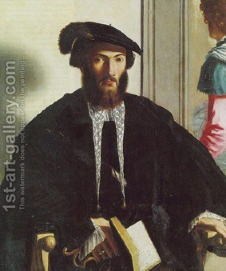 Portrait of gentleman G.B. Castaldi by Girolamo Francesco Maria Mazzola (Parmigianino) - Reproduction Oil Painting
