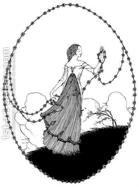 The Year's at the Spring 13 by Harry Clarke - Reproduction Oil Painting