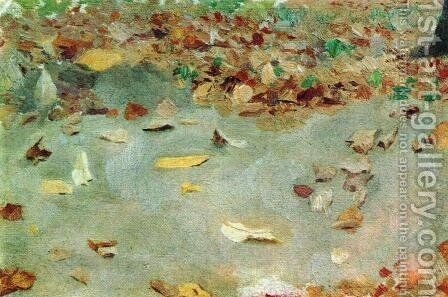 Autumn leaves by Isaak Ilyich Levitan - Reproduction Oil Painting
