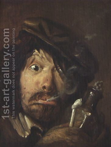 Fumatore by Adriaen Brouwer - Reproduction Oil Painting