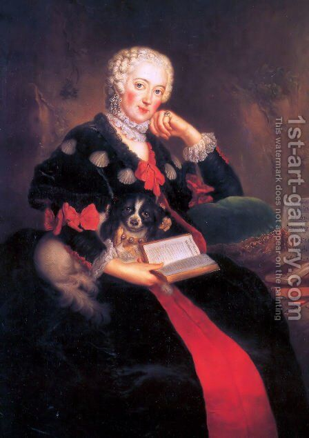 Countess Wilhelmine von Brandenburg Bayreuth by Antoine Pesne - Reproduction Oil Painting