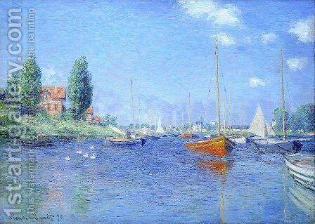 Red Boats, Argenteuil, 1875 (oil on canvas) by Claude Oscar Monet - Reproduction Oil Painting