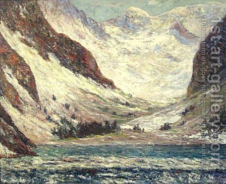 Lake Lovitel by Maxime Maufra - Reproduction Oil Painting