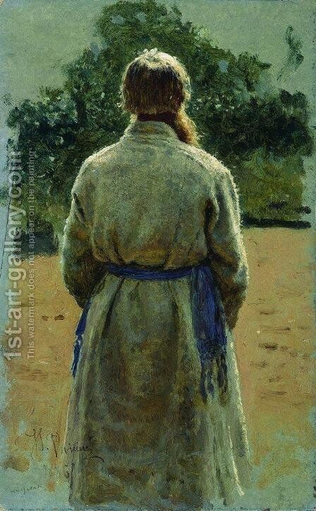 The sergeant, from the back, lit by the sun by Ilya Efimovich Efimovich Repin - Reproduction Oil Painting