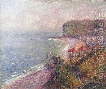 Jetty at Fecamp by Gustave Loiseau - Reproduction Oil Painting