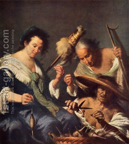 The Three Parks by Bernardo Strozzi - Reproduction Oil Painting