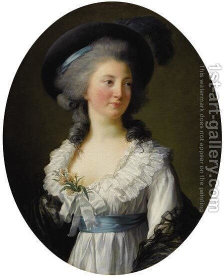 Portrait of Izabela Lubomirska by Elisabeth Vigee-Lebrun - Reproduction Oil Painting