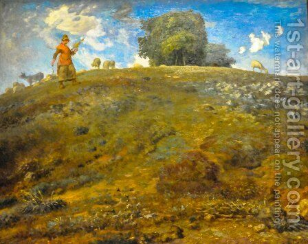 In the Auvergne by Jean-Francois Millet - Reproduction Oil Painting