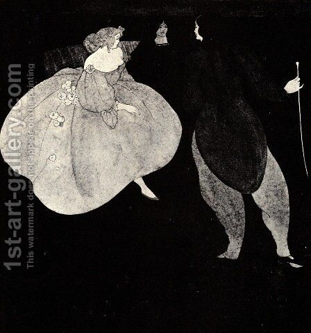A Nocturne of Chopin by Aubrey Vincent Beardsley - Reproduction Oil Painting