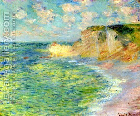 Cliffs at Amont by Claude Oscar Monet - Reproduction Oil Painting