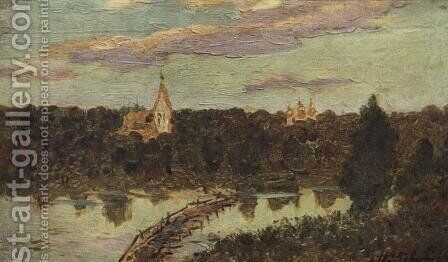 Quiet cloister by Isaak Ilyich Levitan - Reproduction Oil Painting