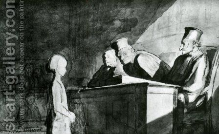 Testimony of a Minor by Honoré Daumier - Reproduction Oil Painting
