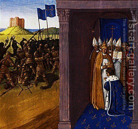 Coronation of Pepin the Short in Laon by Jean Fouquet - Reproduction Oil Painting